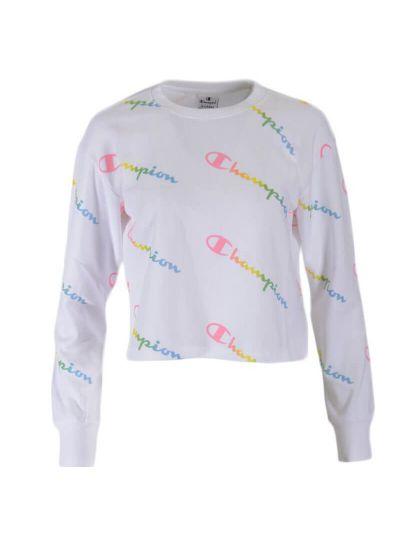 Dekliški krajši pulover Champion 404129 - bel