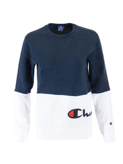 Otroški pulover Champion ROCHESTER Color Block 305257 - moder
