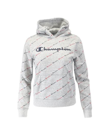 Dekliški pulover s kapuco Champion® PRINT 403915 - siv