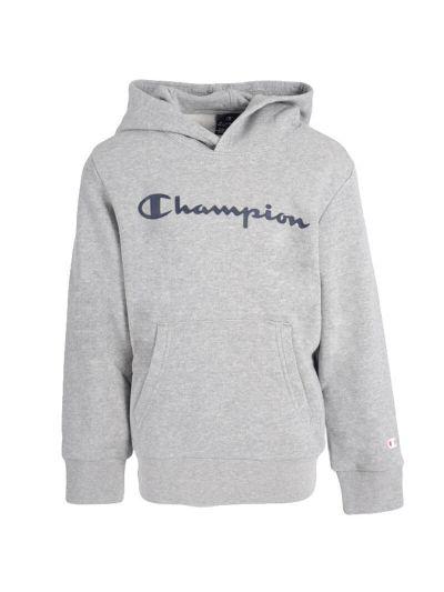 Otroški pulover s kapuco Champion 305358 - siv