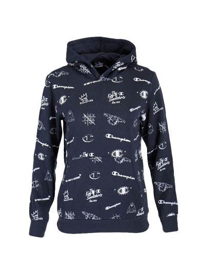 Otroški pulover s kapuco Champion® PRINT 305400 - navy