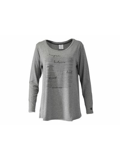 Ženska majica Champion® C111146 Knit dolg rokav - siva