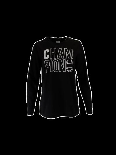 Ženska majica Champion® C112042 dolg rokav - črna