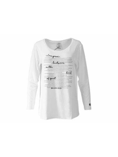 Ženska majica Champion® C111146 Knit dolg rokav - bela