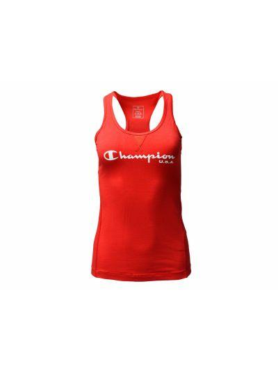 Ženska športna majica Champion® C110926 brez rokavov rdeča BYR