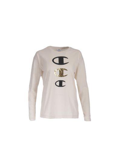 Ženska majica Champion® C112499 dolg rokav - bež