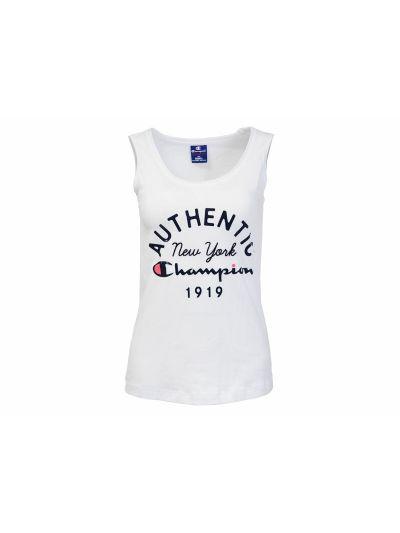 Ženska majica Champion® C110156 brez rokavov bela WHT