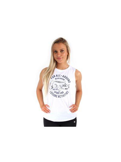 Ženska majica brez rokavov Champion® C109288 bela WHT