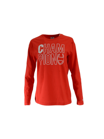 Ženska majica dolg rokav Champion® C112042 - rdeča