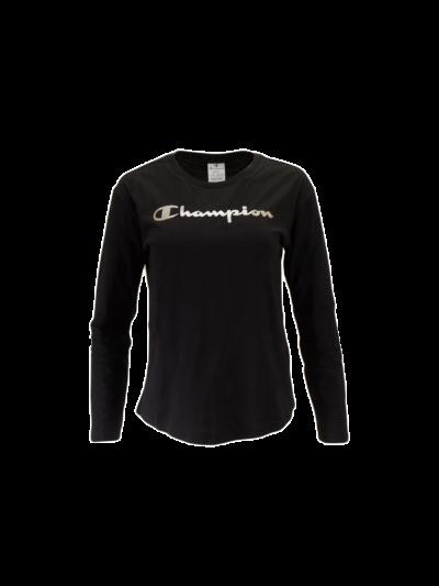 Ženska športna majica Champion® C111964 dolg rokav - črna