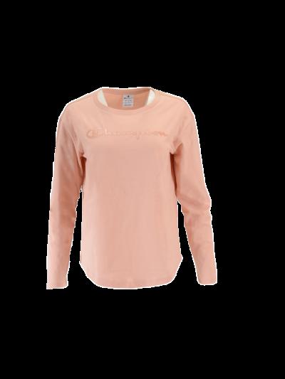 Ženska športna majica dolg rokav Champion® C111964 - pastelno roza