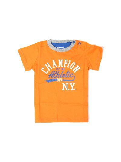 Baby T-Shirt majica Champion, kratek rokav, oranžna CRN