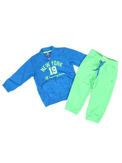 Baby komplet Champion® C501578 za fantke, jopica, dolge hlače, moder/zelen RBL/BGE
