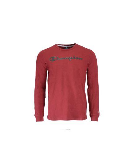 Moška majica Champion® dolg rokav C213482 - temno rdeča