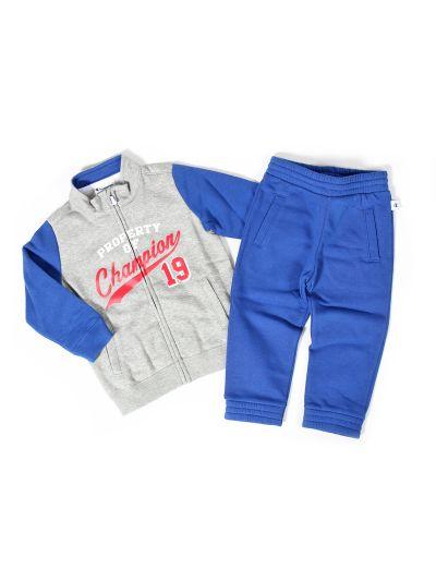 Baby komplet Champion® 501563 za fantke, jopica, dolge hlače, siv/mod OXG/BVU