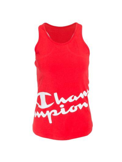 Ženska športna majica brez rokavov Champion 112623 - rdeča