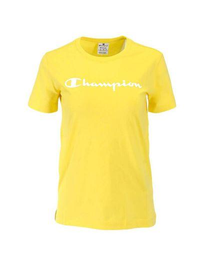 Ženska športna majica kratek rokav Champion® 112602 - rumena
