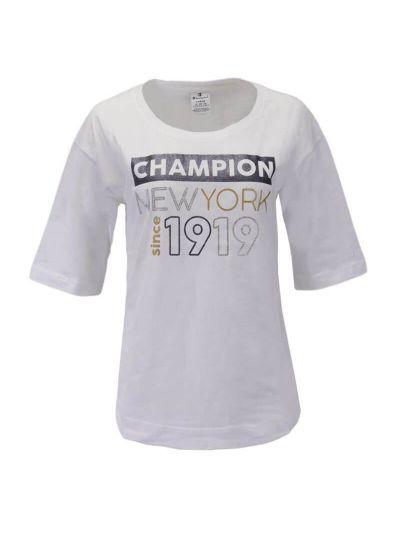 Ženska majica Champion® C111551  - 3/4 rokav - bela