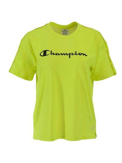 Ženska majica Champion GRAPHIC GALLERY 112749 - fluo zelena