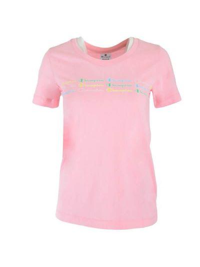 Ženska športna majica Champion COLOR & LOGO - roza