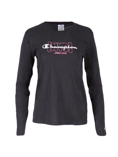 Ženska majica z dolgimi rokavi Champion NYC 113378 - črna