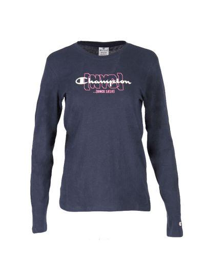 Ženska majica z dolgimi rokavi Champion NYC 113378 - navy