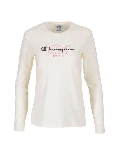 Ženska majica z dolgimi rokavi Champion NYC 113378 - bež