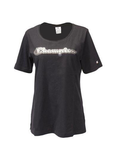 Ženska majica Champion® C111523 - kratek rokav - črna