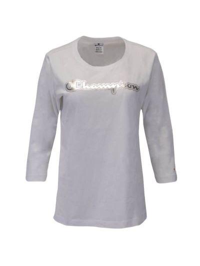 Ženska majica Champion® - 3/4 rokav - bela