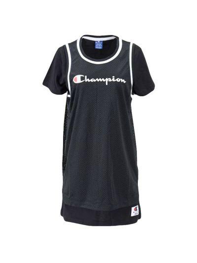Ženska obleka Champion ROCHESTER JERSEY 112904 - črna