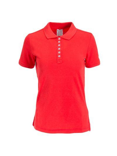 Ženska polo majica s kratkimi rokavi Champion 112612 - rdeča