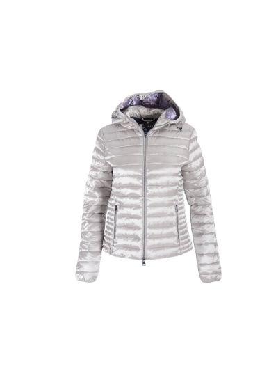 Ženska prehodna jakna s kapuco Champion 113894 - srebrna