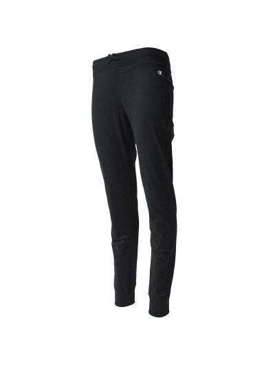 Ženske hlače Champion® 110844 na patent Rib Cuff - črne