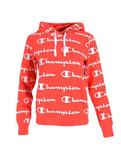 Ženski pulover s kapuco Champion® 112617 PRINT - rdeč