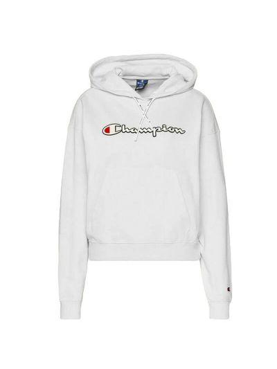 Ženski pulover s kapuco Champion Rochester 112638 - bel