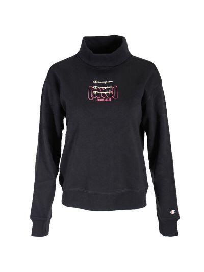 Ženski pulover z visokim ovratnikom - puli - Champion 113373 - črn