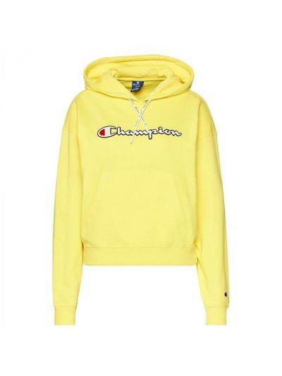 Ženski pulover s kapuco Champion Rochester 112638 - rumena