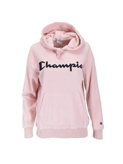 Ženski pulover s kapuco Champion 113457 - pastelno roza
