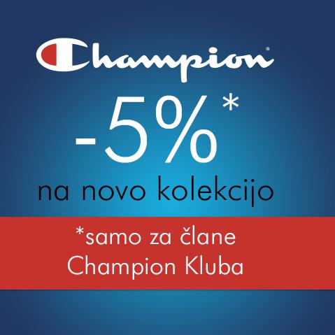 5% popusta na novo kolekcijo za člane Champion Kluba