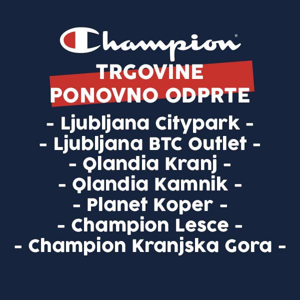 Champion trgovine odpirajo svoja vrata