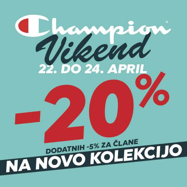 Champion vikend - 22. do 24. april