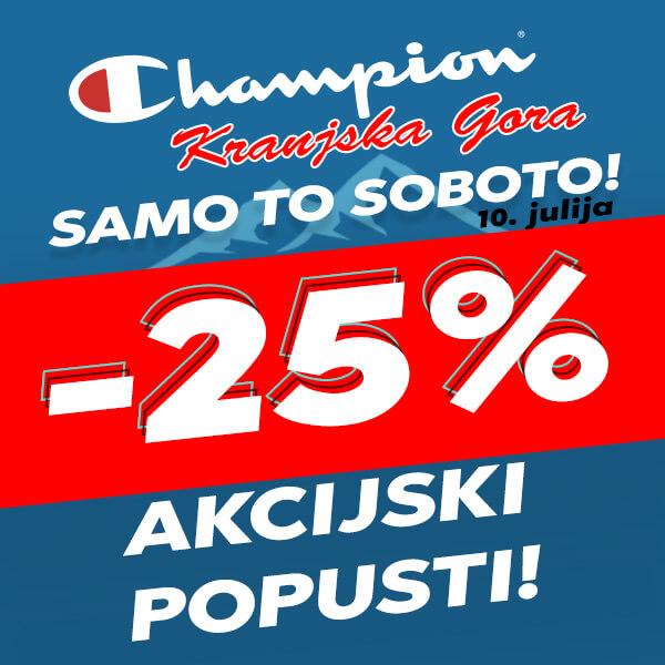 Akcijski popust v Champion Kranjska Gora